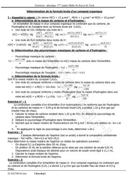 determiner formule brute pourcentage massique pdf