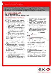 HSBC CLIC EURO 85 - HSBC Global Asset Management France