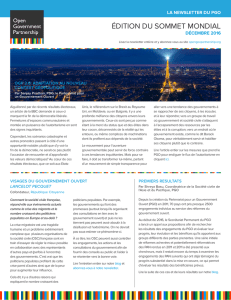 édition du sommet mondial - Open Government Partnership