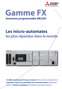 MITSUBISHI ELECTRIC - Documentation: Automates