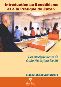 Introduction au Bouddhisme et à la Pratique de Zazen