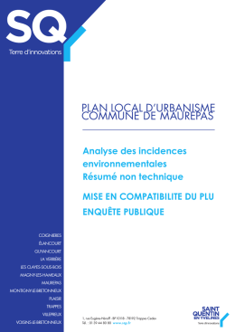 plan local d`urbanisme commune de maurepas - Saint-Quentin