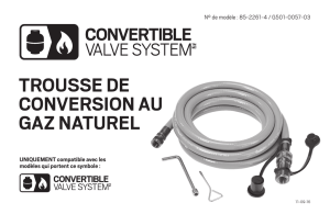 trousse de conversion au gaz naturel