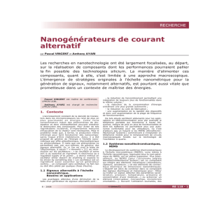 Nanogénérateurs de courant alternatif