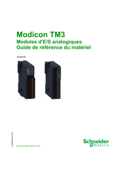 Modicon TM3 - Modules d E/S analogiques