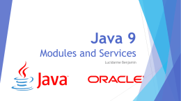 Java 9 Modules and Services