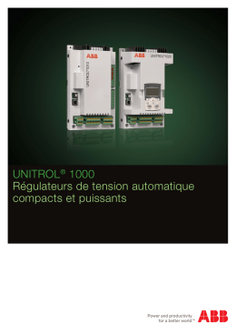 UNITROL® 1000 Régulateurs de tension automatique