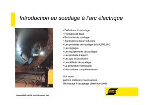 Introduction au soudage à l`arc