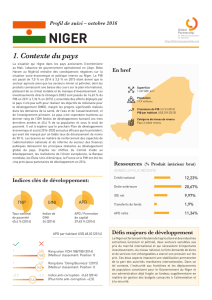 1. Contexte du pays - Global Partnership for Effective Development