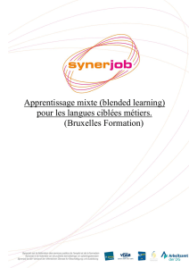 Apprentissage mixte (blended learning)