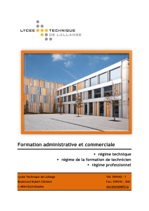 Formation administrative et commerciale