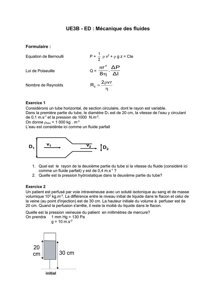 Ue3b Ed Mecanique Des Fluides