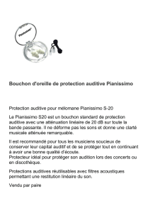 Bouchon d`oreille de protection auditive Pianissimo