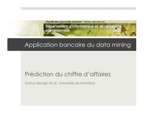 Application bancaire du data mining Prédiction du chiffre d`affaires
