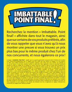 Le slogan « Imbattable. Point final ! » signifie que si un grand