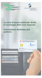 La carte d`assuré nationale