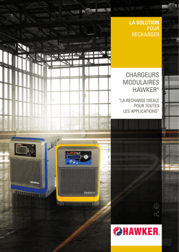 chargeurs modulaires hawker - EnerSys