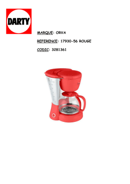 marque: orva reference: 17930-56 rouge codic: 3281361