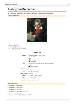 beethoven a t il rencontrer mozart