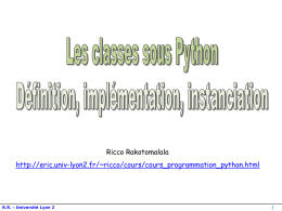 Les classes sous Python