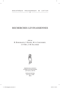 recherches levinassiennes - Pain and Suffering Project