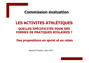 commission EP sprint relais