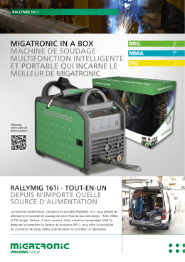 migatronic in a box machine de soudage multifonction intelligente et