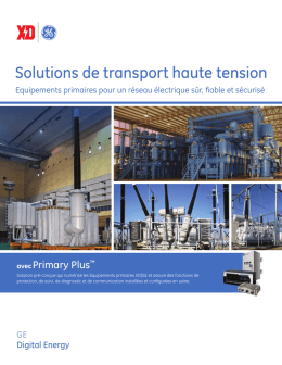 Solutions de transport haute tension