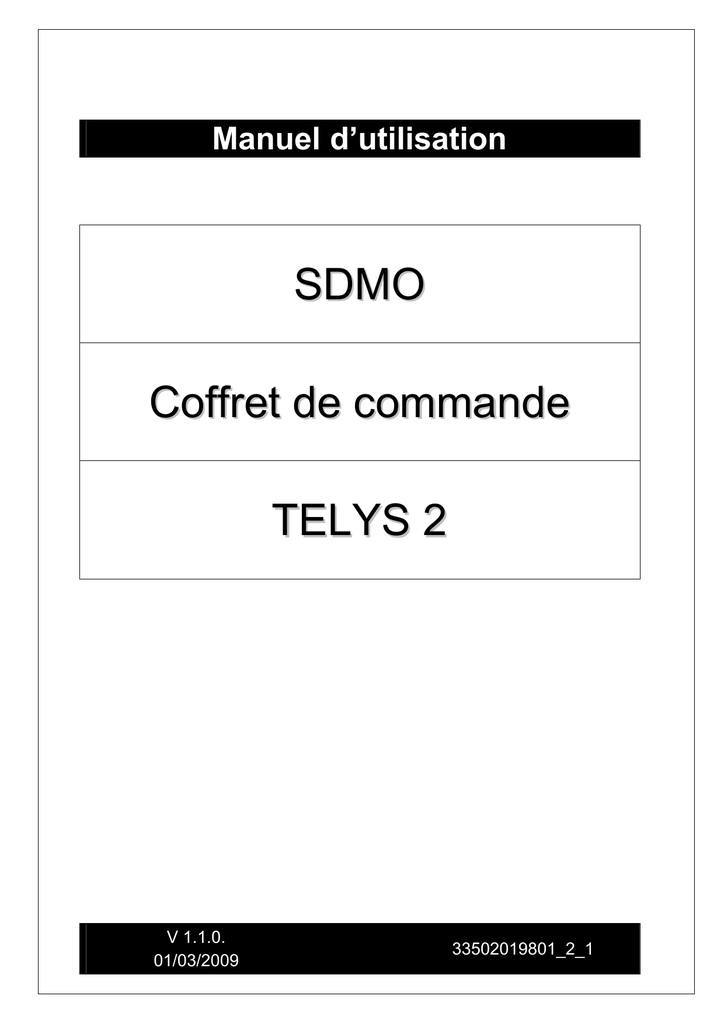 SDMO Coffret de commande TELYS 2