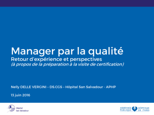Nelly DELLE-VERGINI – Manager par la qualité - Inscriptions AP-HP