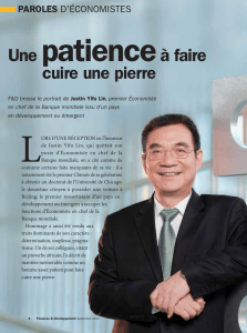Paroles d`économistes : Une patience à faire cuire une pierre