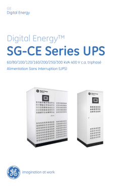SG-CE Series UPS - GE Grid Solutions