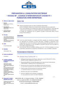 Chargé d`intervention BT CHAINE PV - INTER