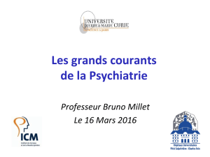Les grands courants de la Psychiatrie