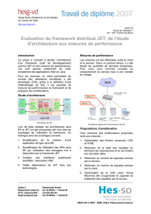 Evaluation du framework distribué JET: de l`étude d`architecture aux