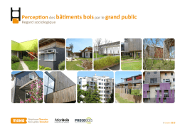 Perception des bâtiments bois par le grand public