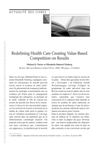 Redefining Health Care Creating Value-Based