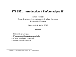 ITI 1521. Introduction `a l`informatique II