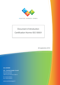 Document d`introduction de la norme ISO 50001