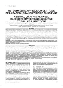 Ostéomyélite - Swiss Medical Forum