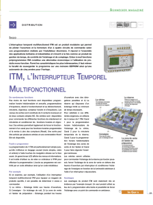 Schneider Magazine 26 - ITM, l`Interrupteur Temporel Multifonctionnel