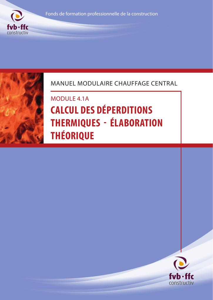 calcul des d u00e9perditions thermiques