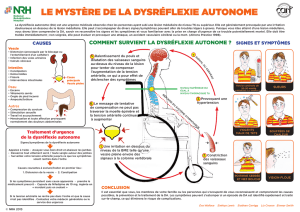 COMMENT SURVIENT LA DYSRÉFLEXIE AUTONOME ?