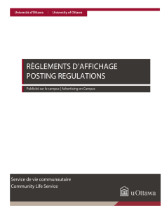 règlements d`affichage posting regulations