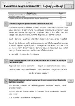Evaluation de grammaire CM1 - MA MAITRESSE DE CM1-CM2