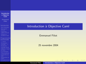 Introduction à Objective Caml