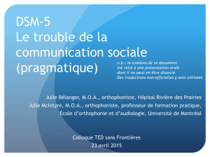 DSM-5: le trouble de la communication sociale
