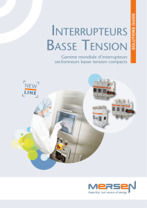 INTERRUPTEURS BASSE TENSION