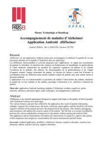 Accompagnement de malades d`Alzheimer Application Android
