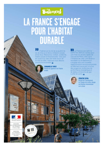 la france s`engage pour l`habitat durable